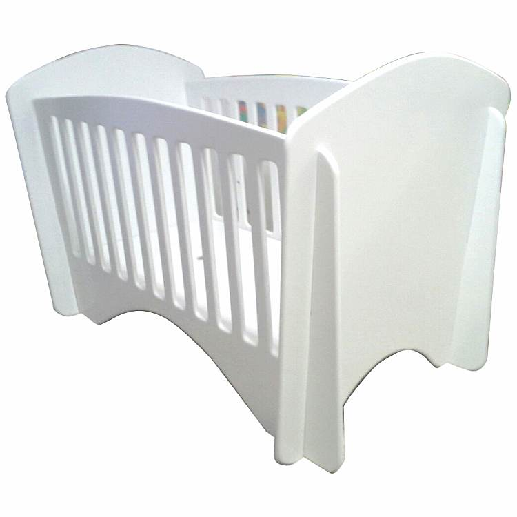 curves wooden cot