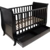 Sleigh Cot With Draw Mahogany-1
