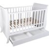 Sleigh Cot With Draw White-1