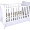 Sleigh Cot With Draw White