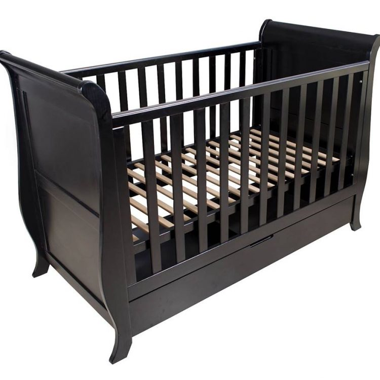 Sleigh Cot With Draw Mahogany